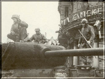 Checking Out A German Mark V Panther After It Took Three Rounds Of 90MM