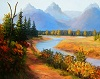 Quiet Path in Autumn,  Oil on Canvas 16 x 20 Price  $130 plus shipping