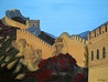 Sun Sets on the Great Wall of China,  Oil on Canvas 18 x 24 is SOLD