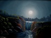 Waterfall by Moonlight, Oil on Canvas, 18 x 24, $150 plus shipping
