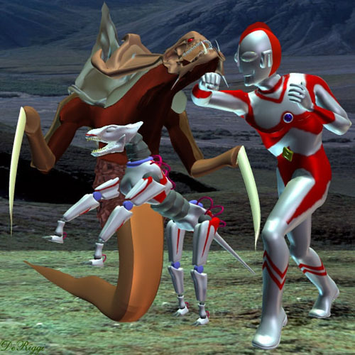Ultraman and Cyberdog Vs. The Hydralisk